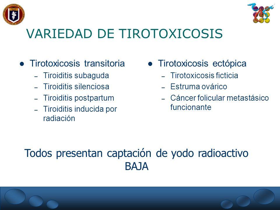 VARIEDAD DE TIROTOXICOSIS