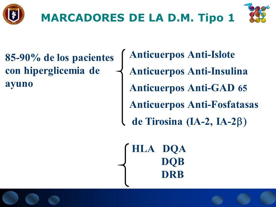 MARCADORES DE LA D.M. Tipo 1