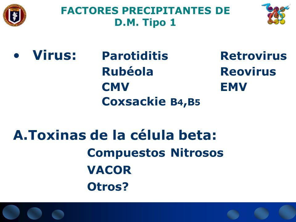 FACTORES PRECIPITANTES DE D.M. Tipo 1