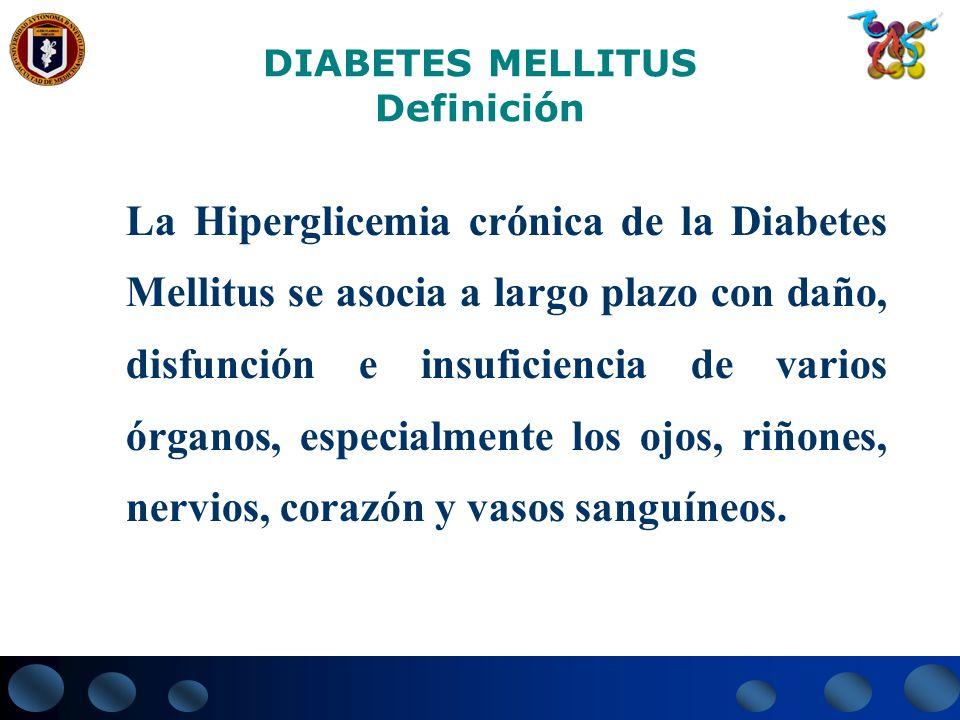 Etiopatogenia, diagnóstico y clasificación de la Diabetes