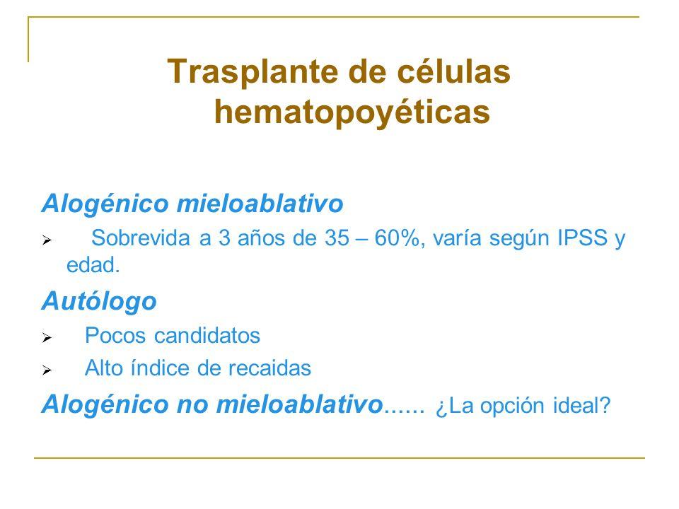 Trasplante de células hematopoyéticas
