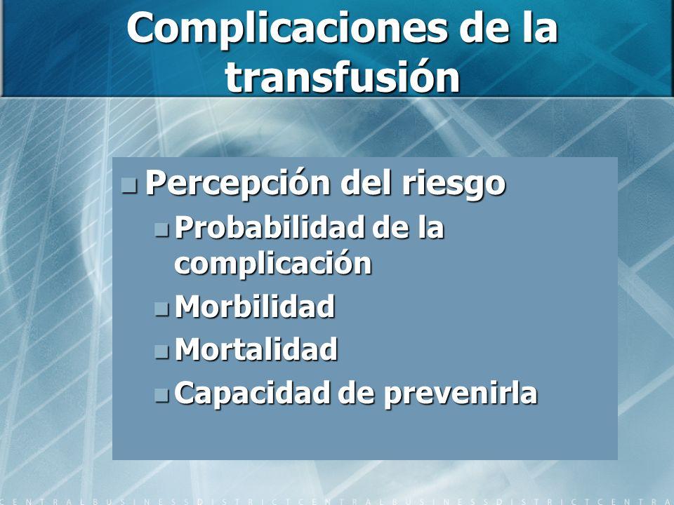 Complicaciones de la transfusión