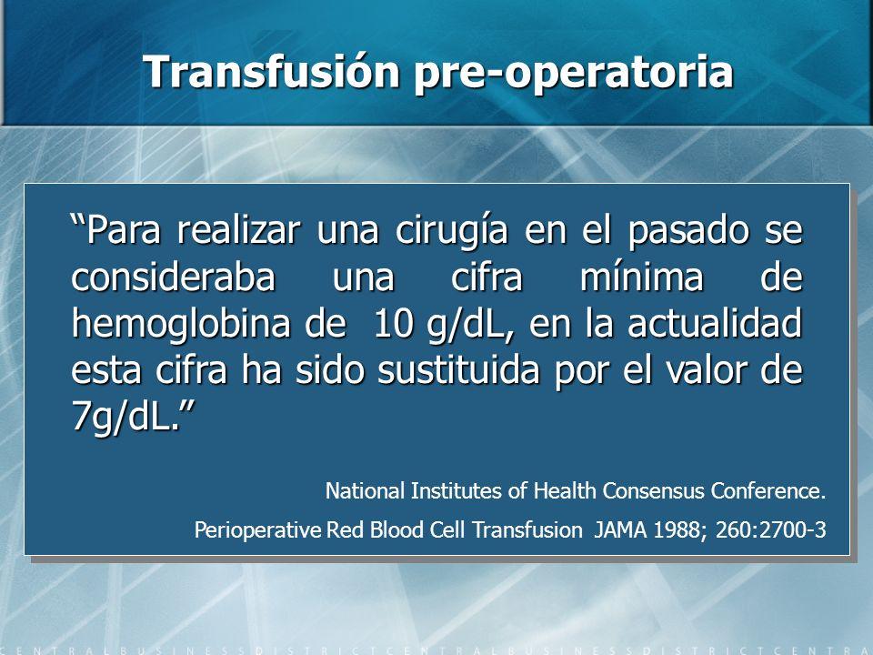 Transfusión pre-operatoria