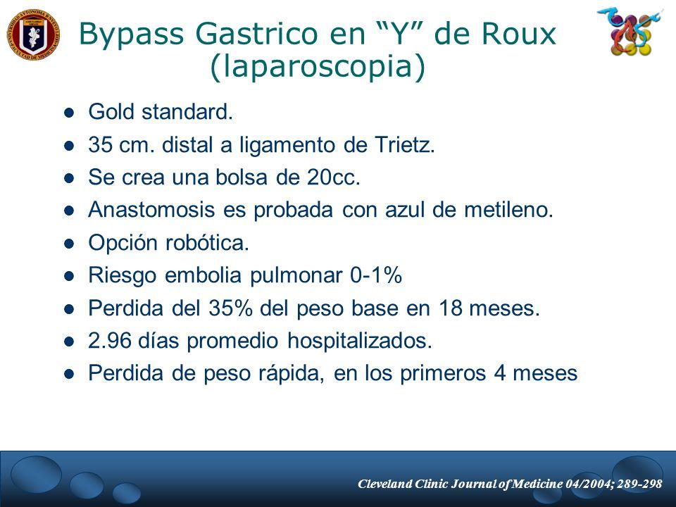 Bypass Gastrico en Y de Roux (laparoscopia)