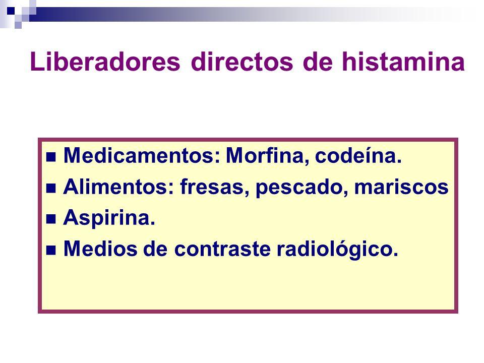 Liberadores directos de histamina