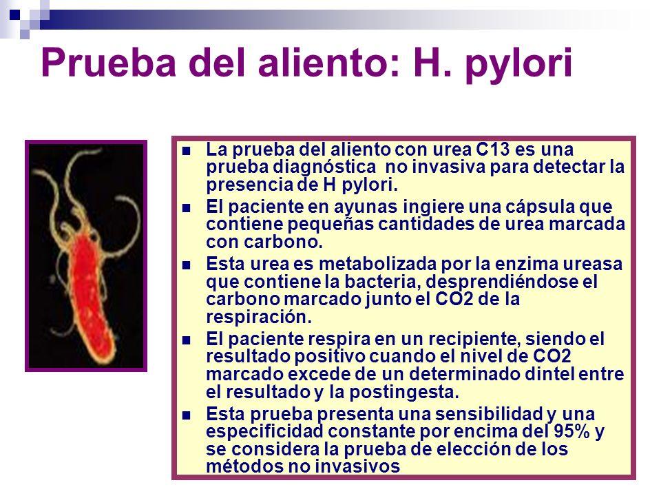 Prueba del aliento: H. pylori