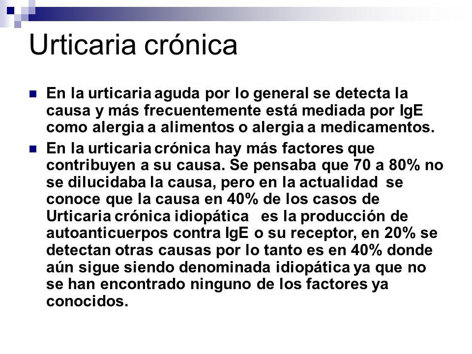 Urticaria crónica