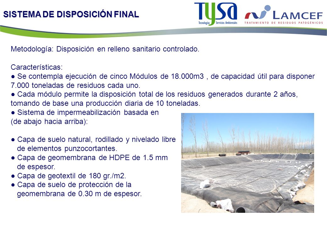 SISTEMA DE DISPOSICIÓN FINAL