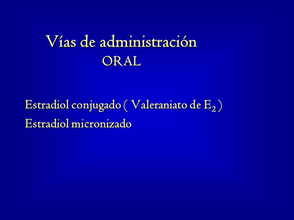 Estradiol conjugado ( Valeraniato de E2 ) Estradiol micronizado