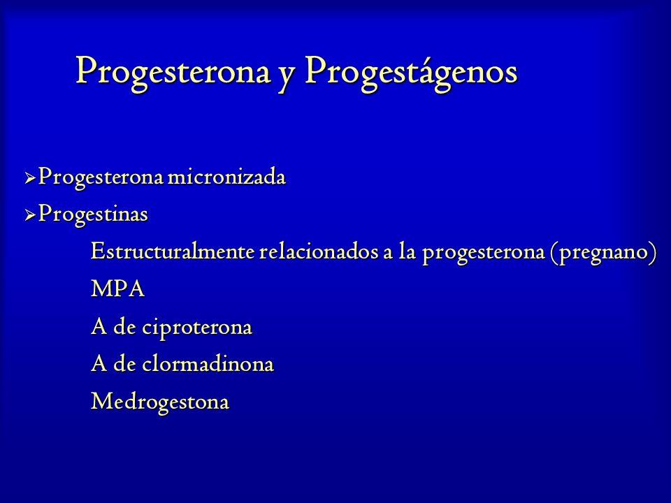 Progesterona y Progestágenos