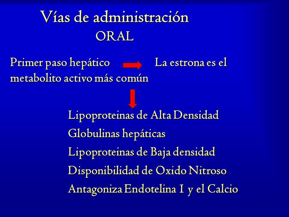 Vías de administración ORAL