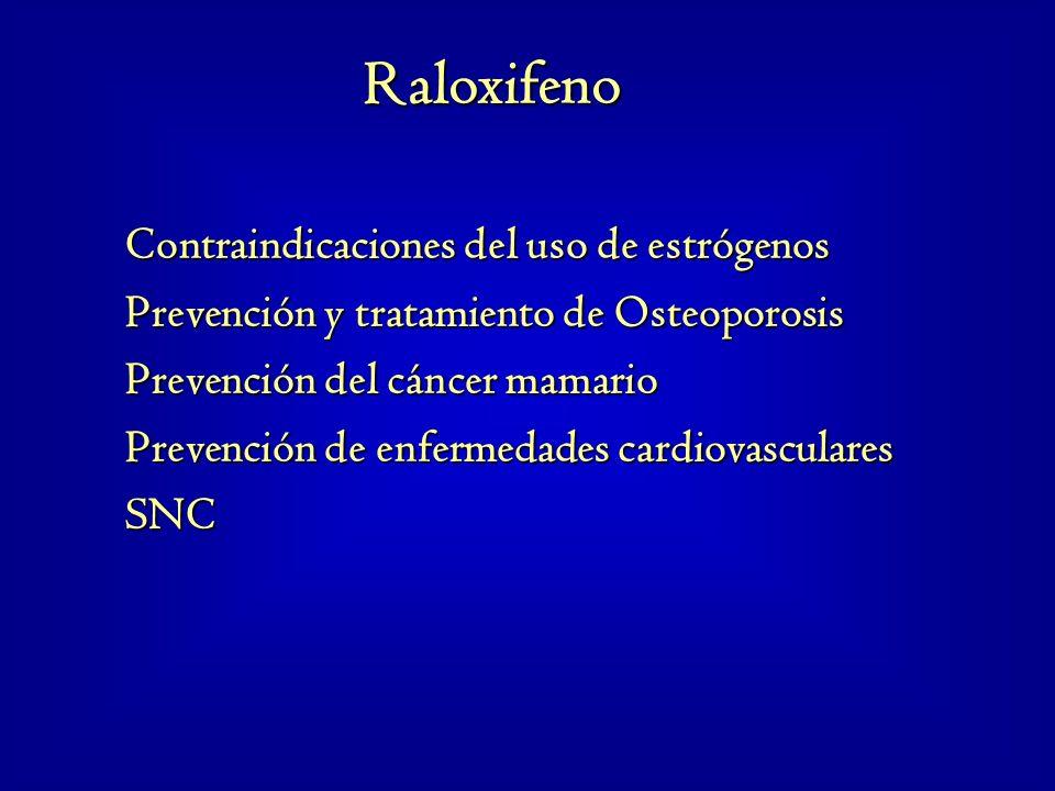 Raloxifeno Contraindicaciones del uso de estrógenos