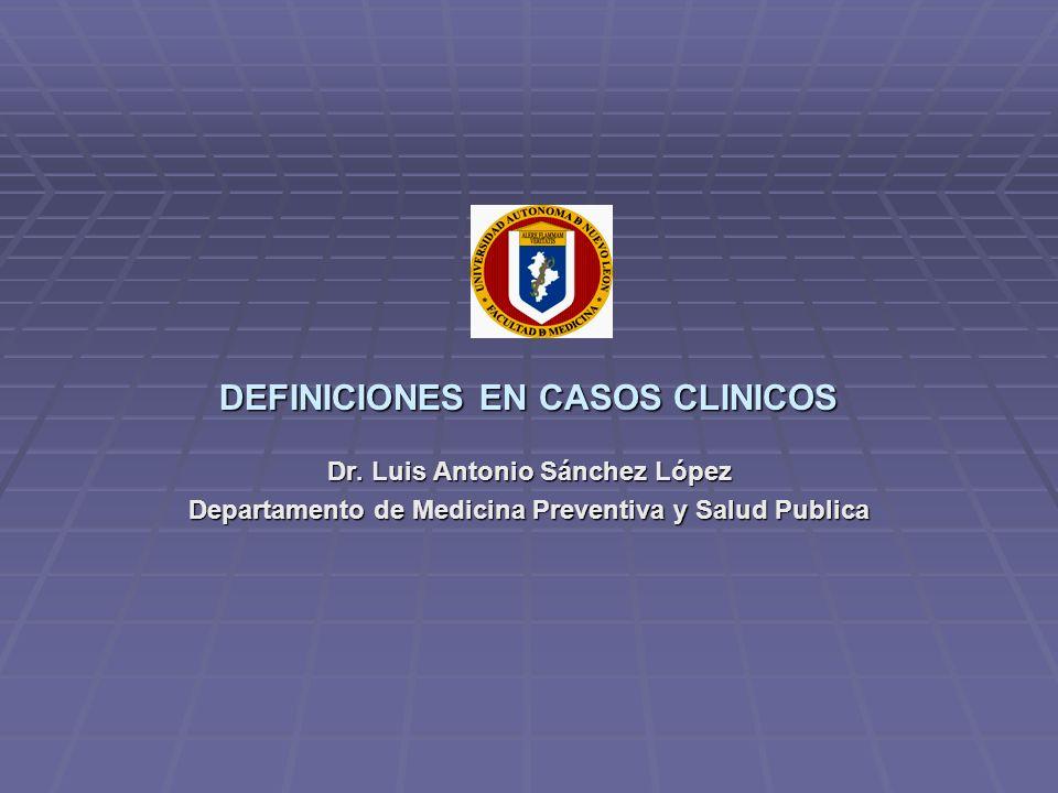 DEFINICIONES EN CASOS CLINICOS