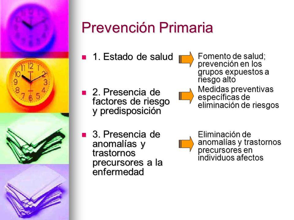 Prevención Primaria 1. Estado de salud