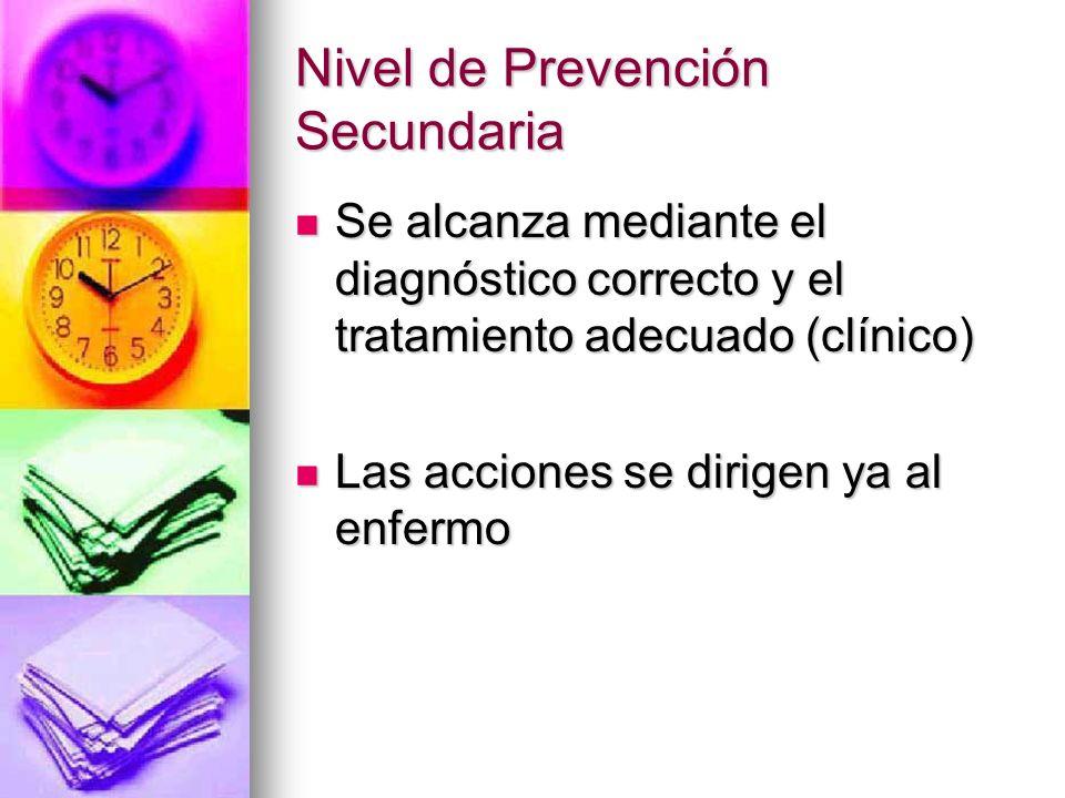 Nivel de Prevención Secundaria