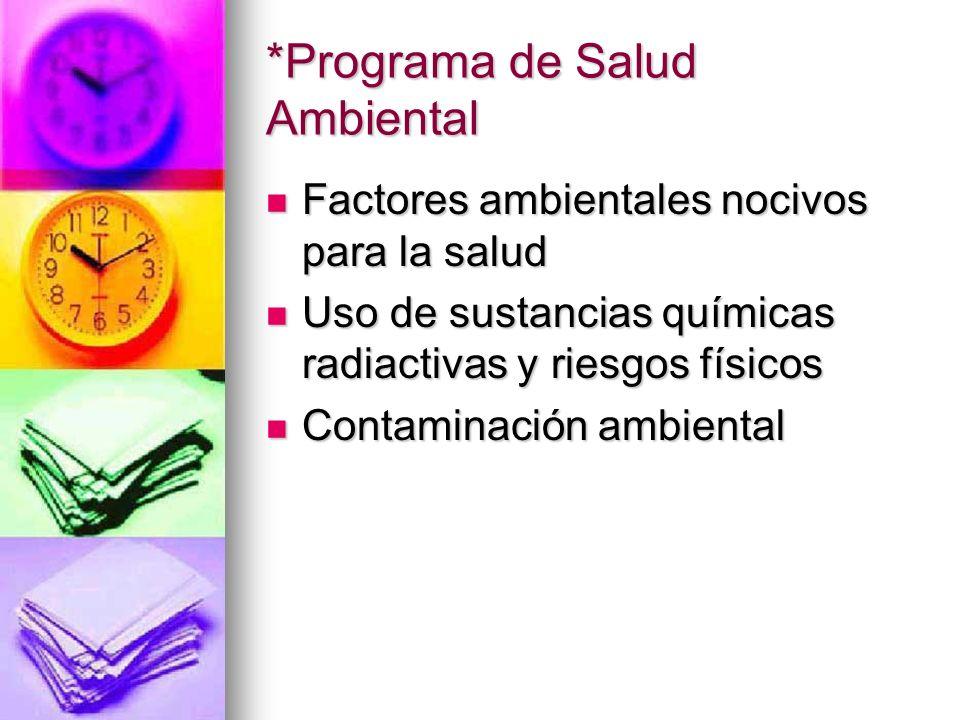 *Programa de Salud Ambiental