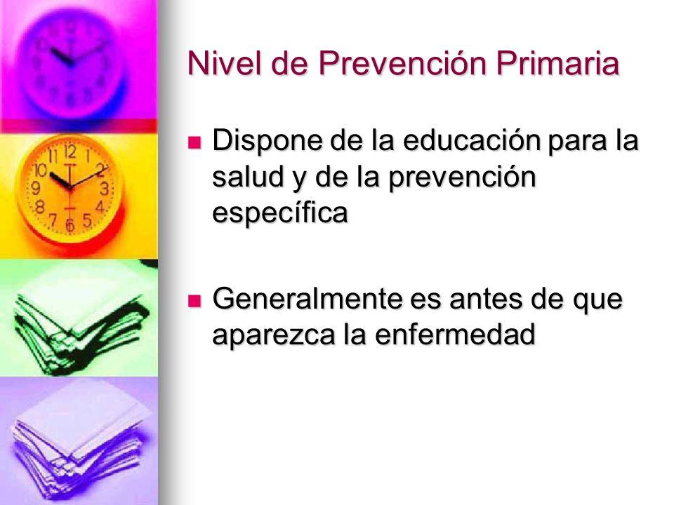 Nivel de Prevención Primaria