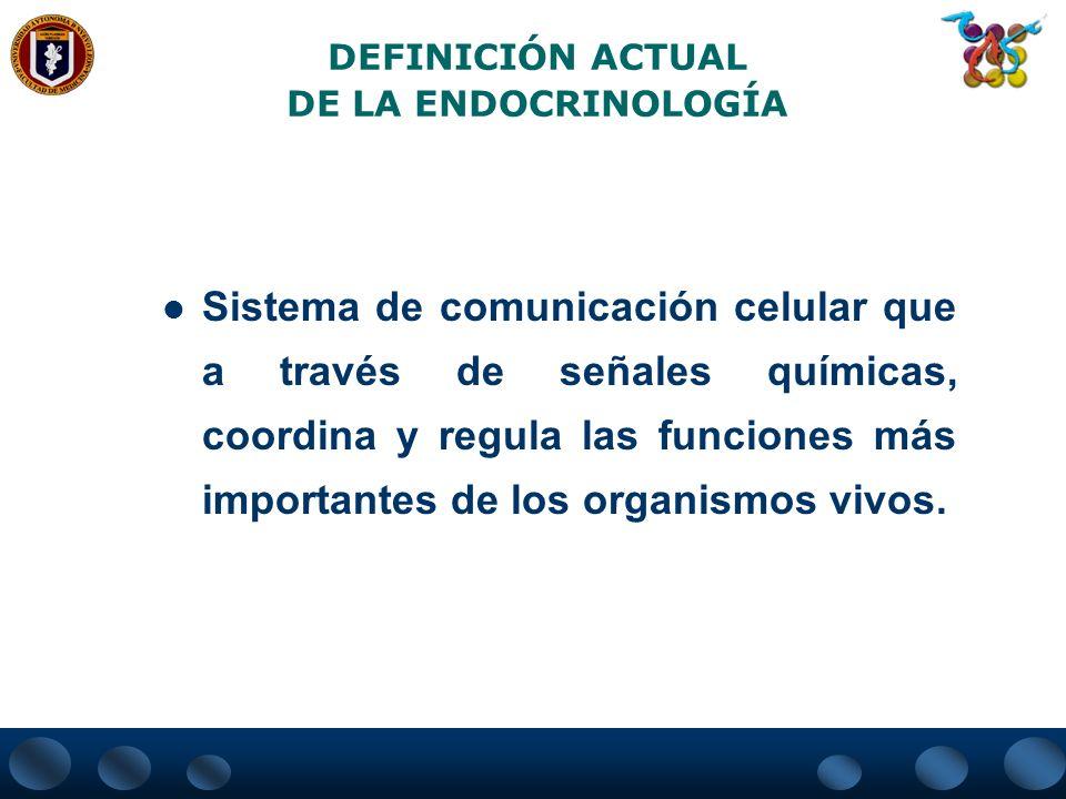 DEFINICIÓN ACTUAL DE LA ENDOCRINOLOGÍA