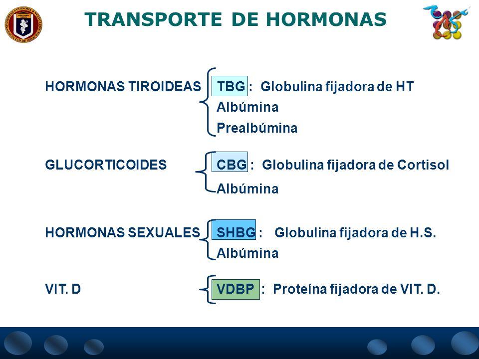 TRANSPORTE DE HORMONAS