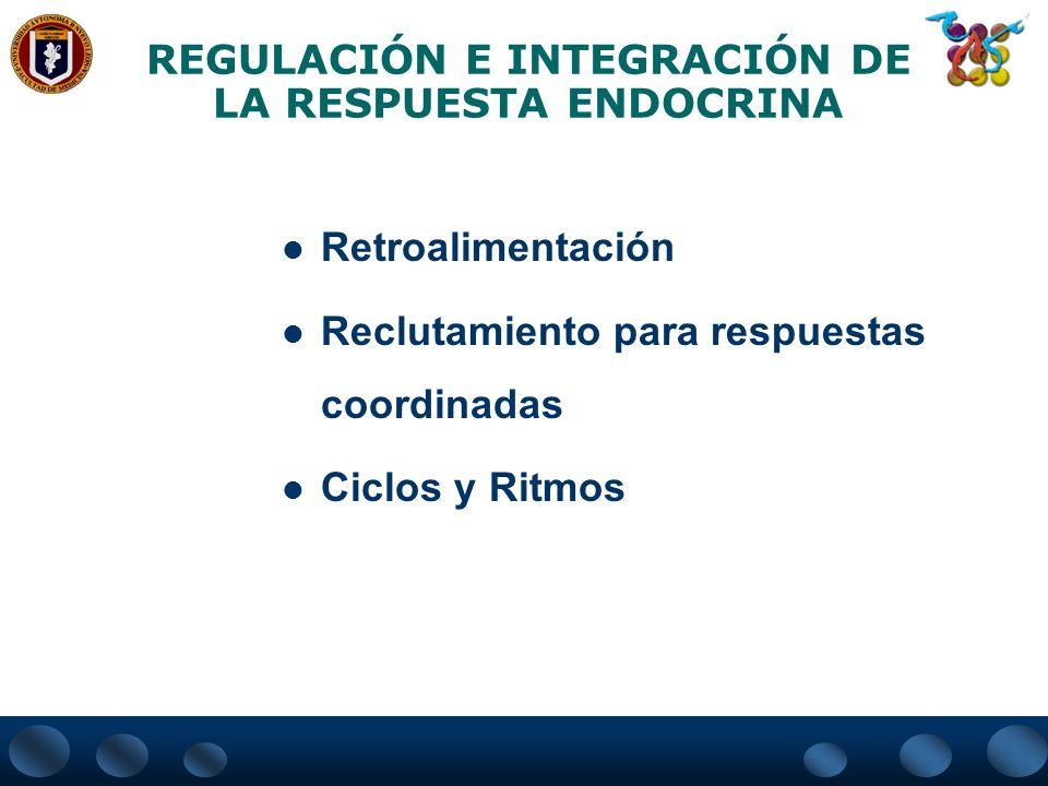 REGULACIÓN E INTEGRACIÓN DE LA RESPUESTA ENDOCRINA