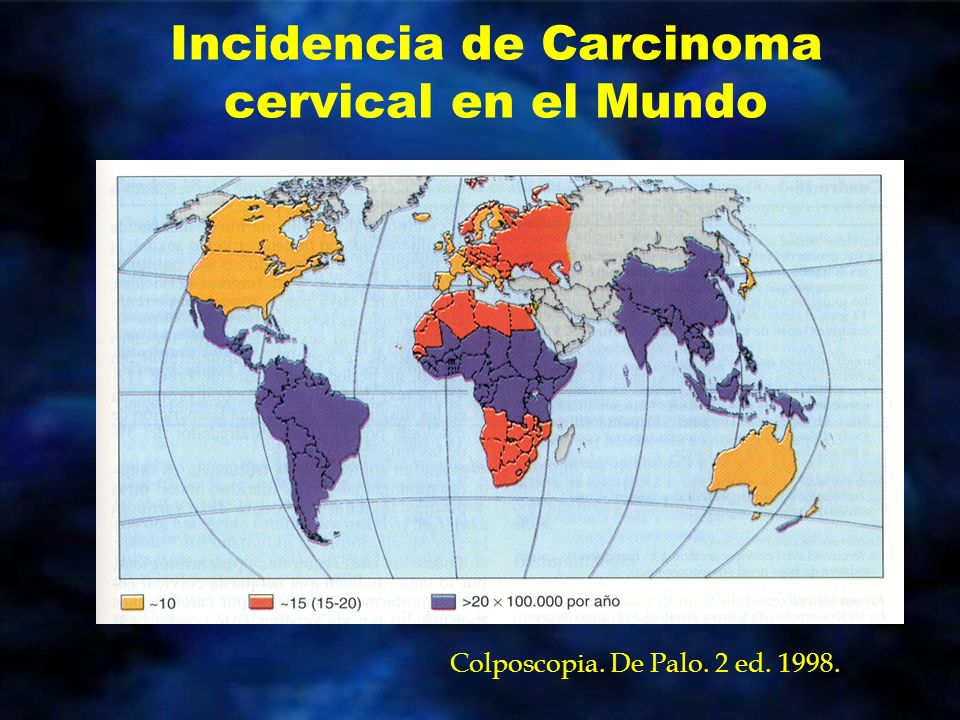 Incidencia de Carcinoma cervical en el Mundo