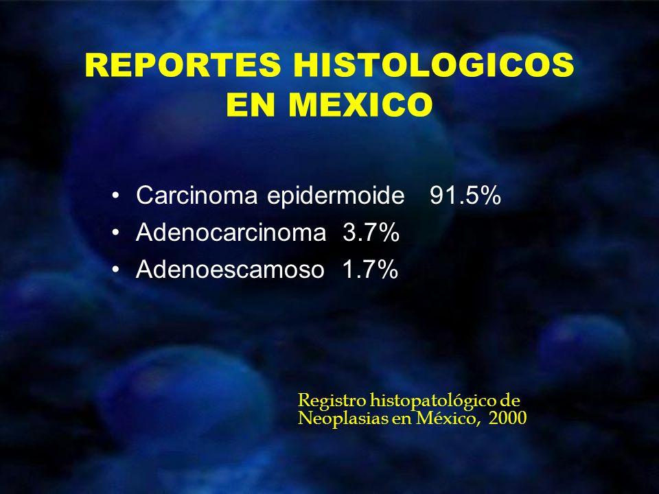 REPORTES HISTOLOGICOS EN MEXICO