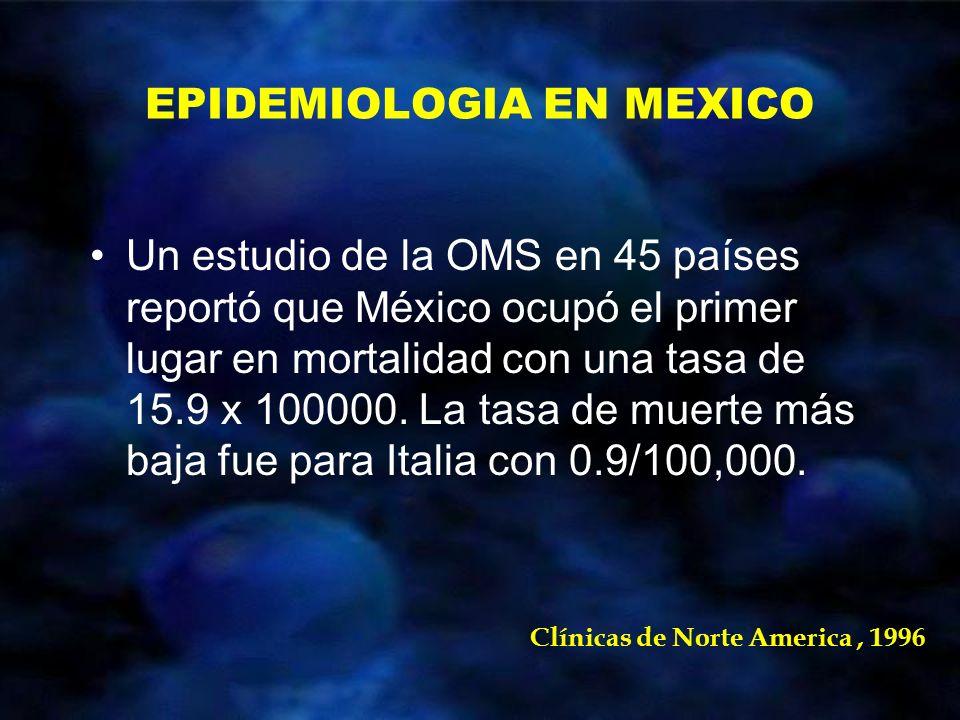 EPIDEMIOLOGIA EN MEXICO