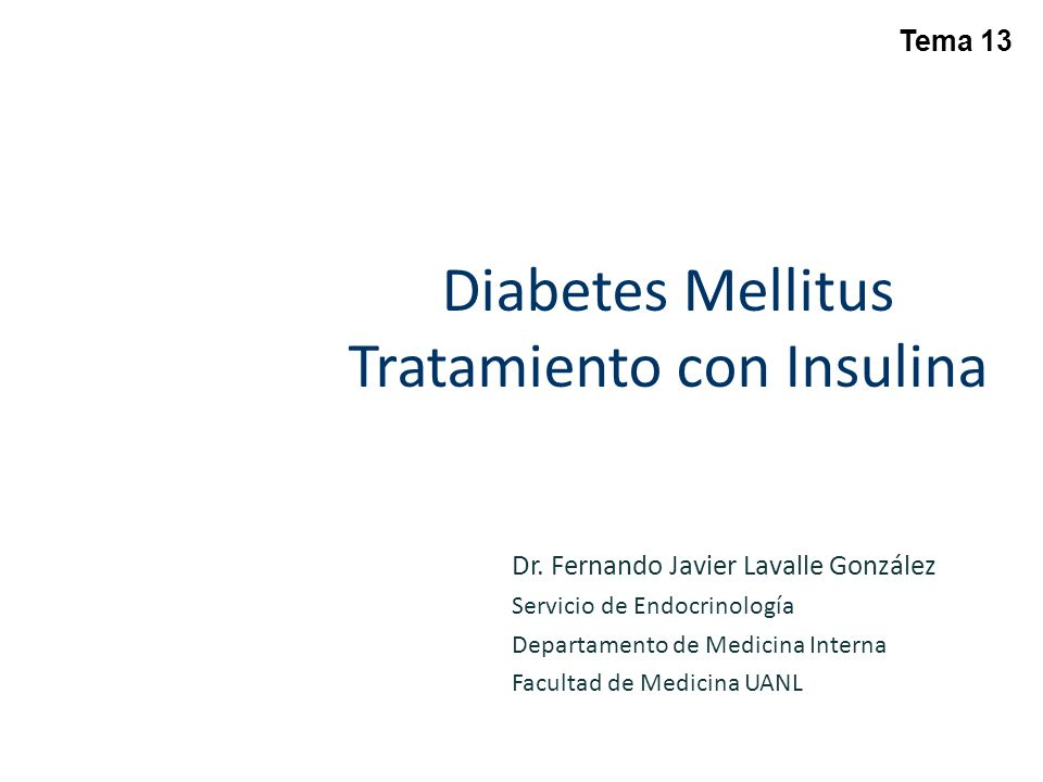 Diabetes Mellitus Tratamiento con Insulina