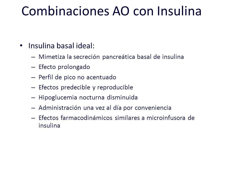 Combinaciones AO con Insulina