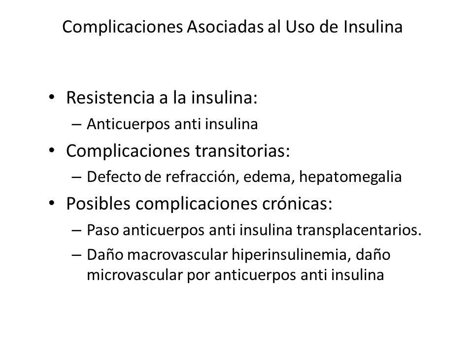 Complicaciones Asociadas al Uso de Insulina