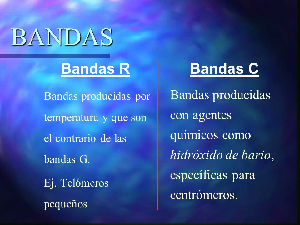 BANDAS Bandas R Bandas C