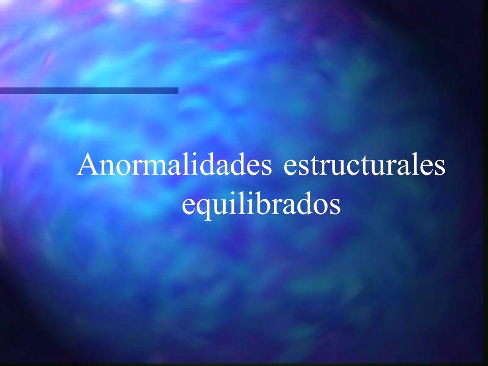 Anormalidades estructurales equilibrados