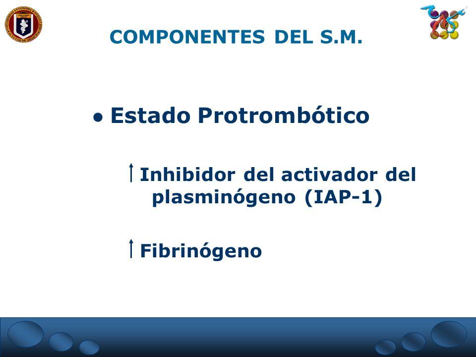 Estado Protrombótico COMPONENTES DEL S.M.