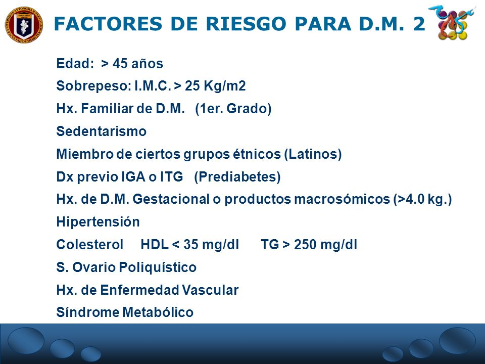 FACTORES DE RIESGO PARA D.M. 2