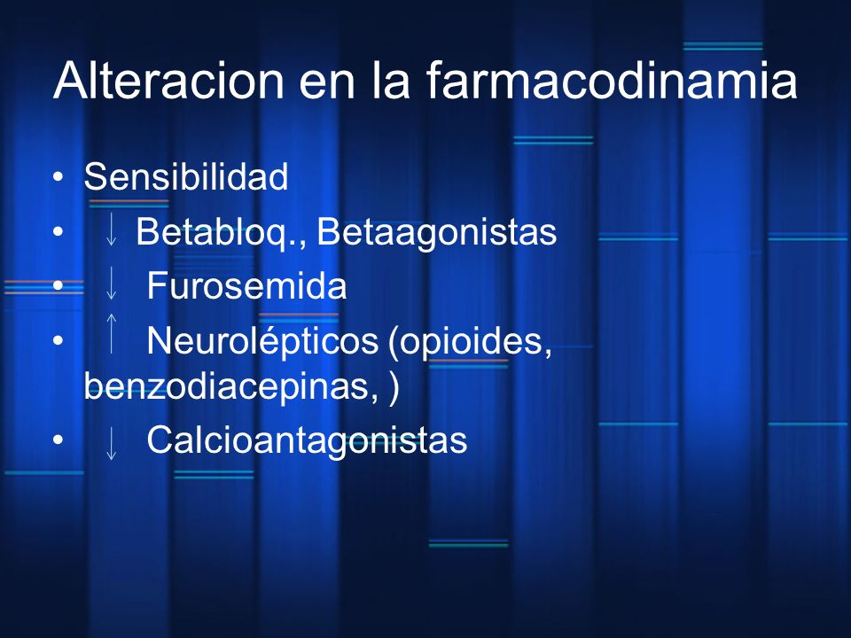 Alteracion en la farmacodinamia