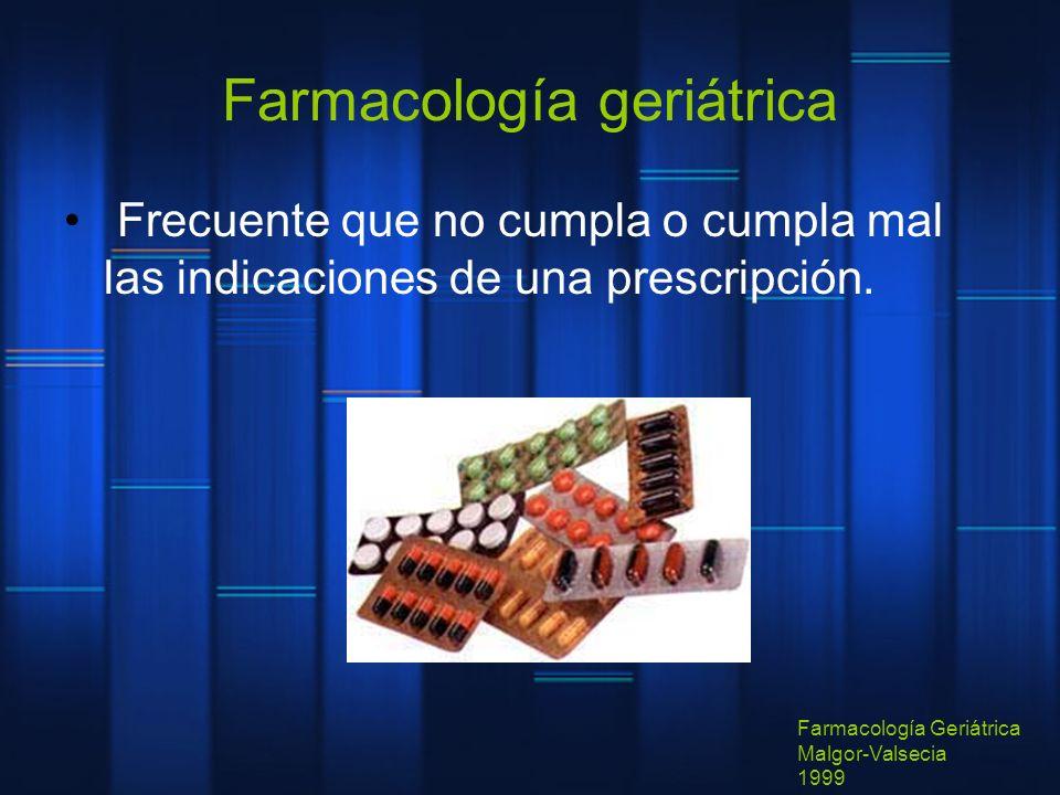 Farmacología geriátrica