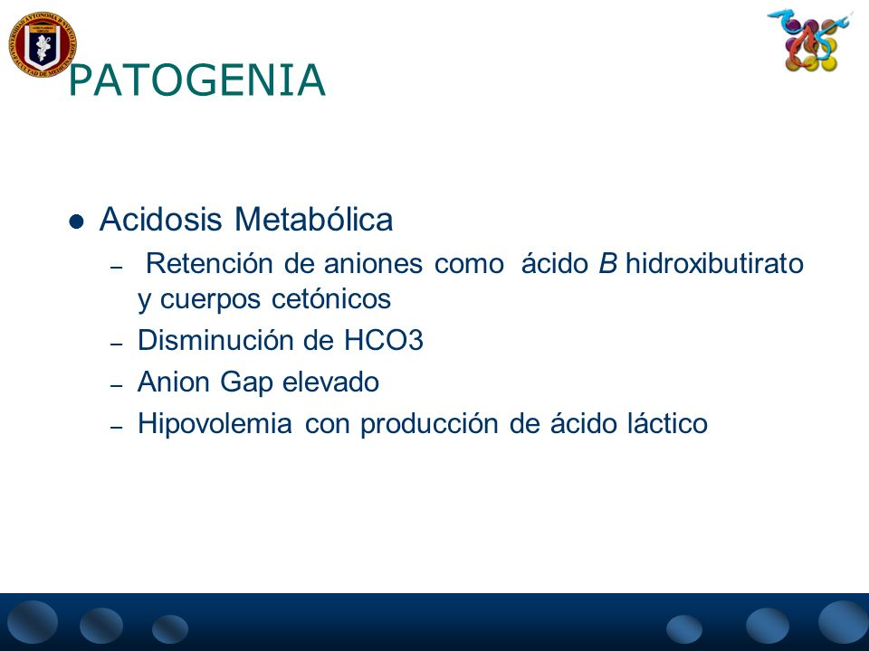 PATOGENIA Acidosis Metabólica