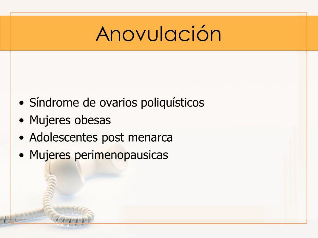 Anovulación Síndrome de ovarios poliquísticos Mujeres obesas