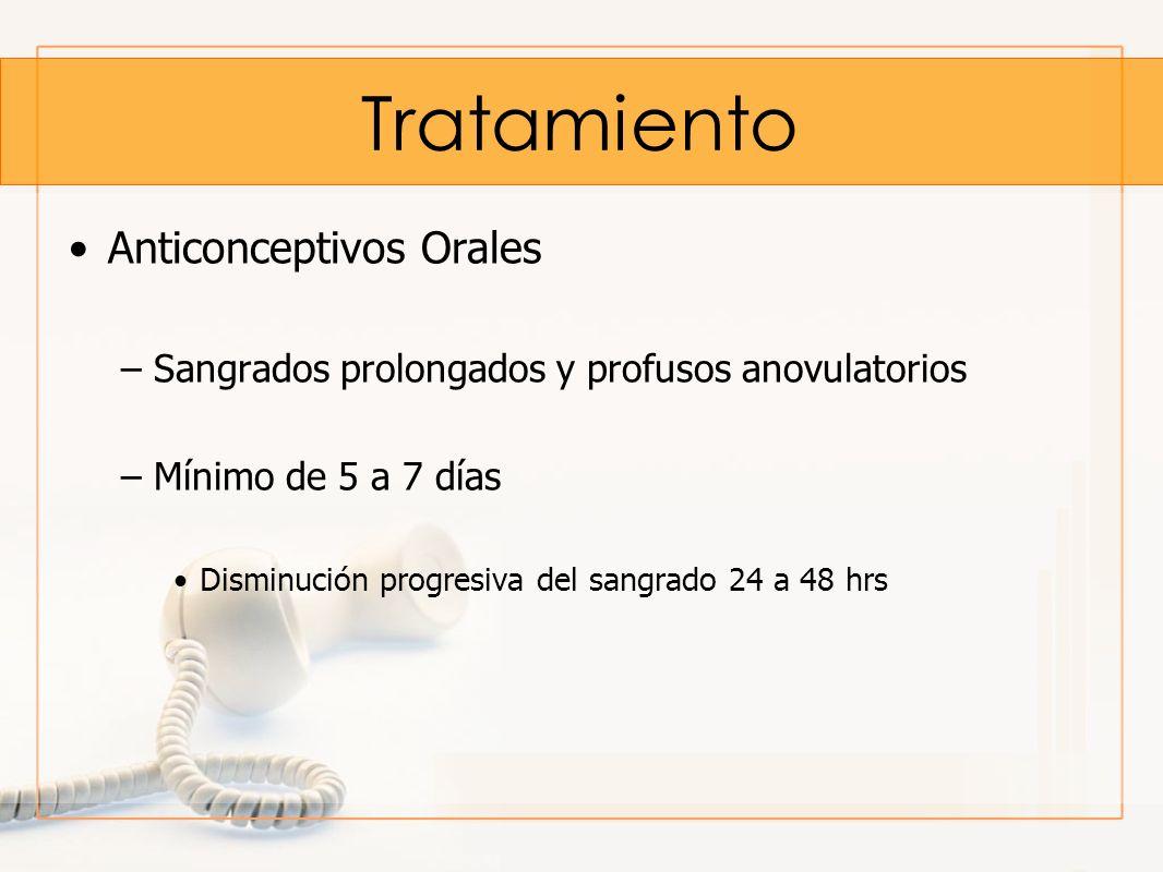 Tratamiento Anticonceptivos Orales