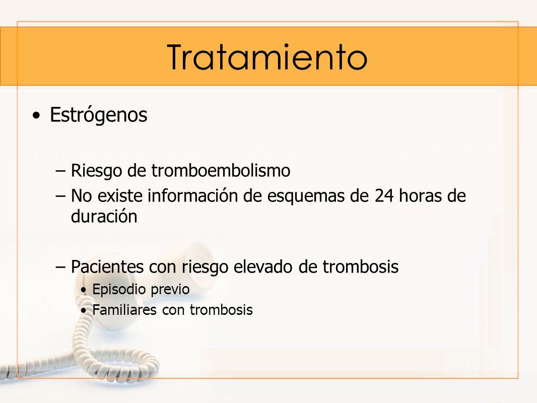 Tratamiento Estrógenos Riesgo de tromboembolismo