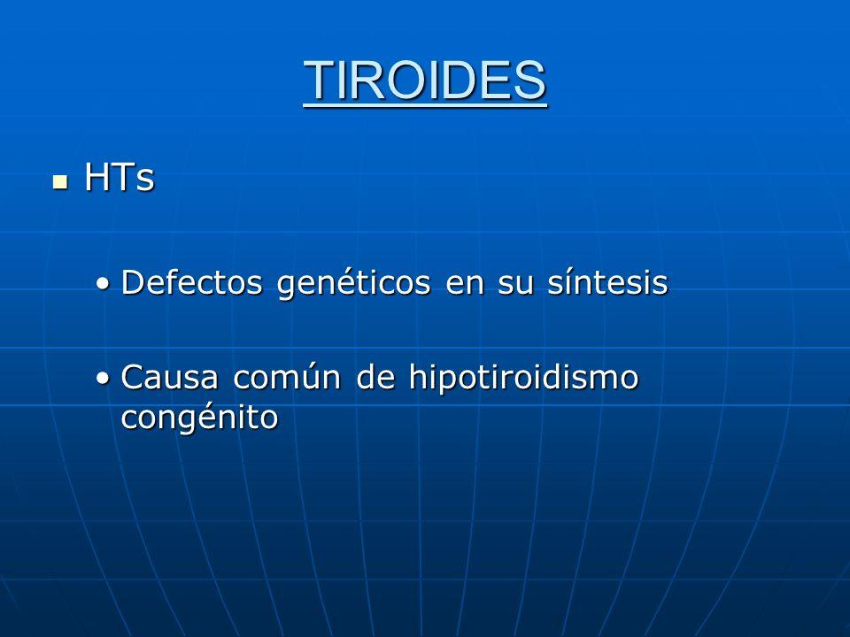 TIROIDES HTs Defectos genéticos en su síntesis