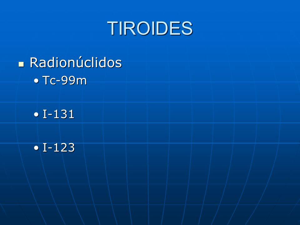 TIROIDES Radionúclidos Tc-99m I-131 I-123