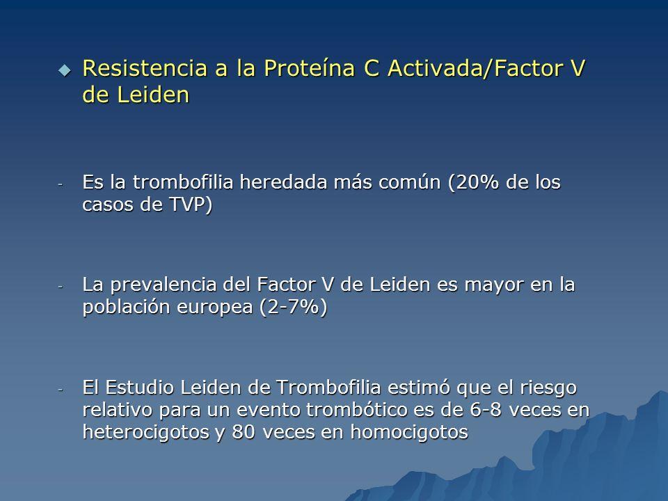 Resistencia a la Proteína C Activada/Factor V de Leiden
