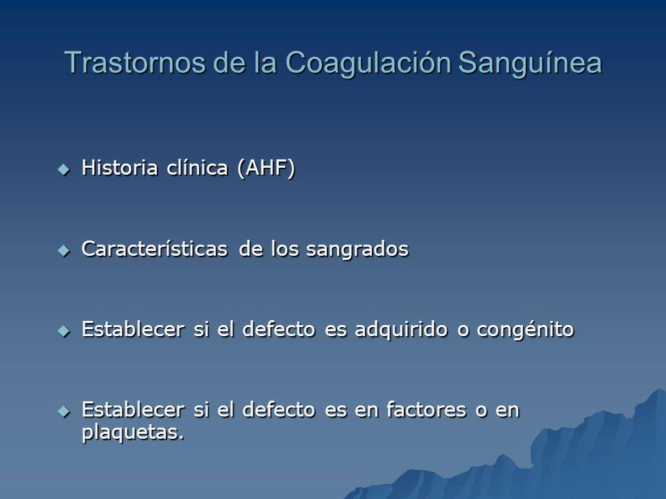 Trastornos de la Coagulación Sanguínea