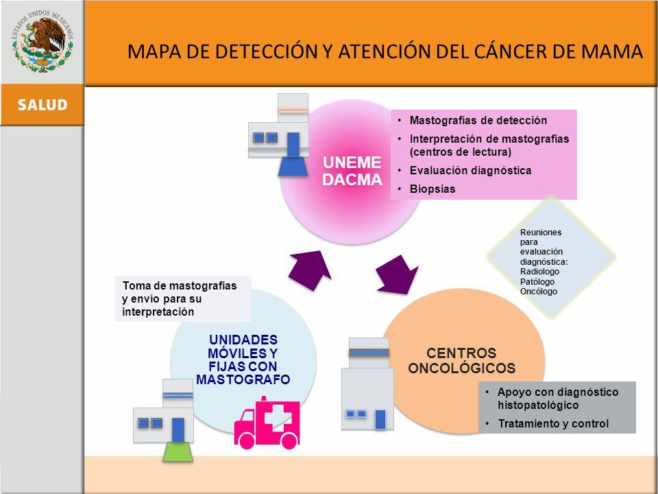 MAPA DE DETECCIÓN Y ATENCIÓN DEL CÁNCER DE MAMA