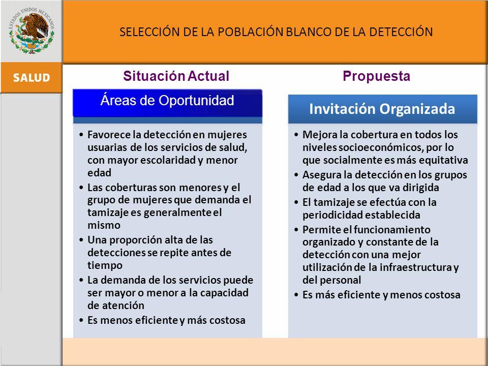 SELECCIÓN DE LA POBLACIÓN BLANCO DE LA DETECCIÓN