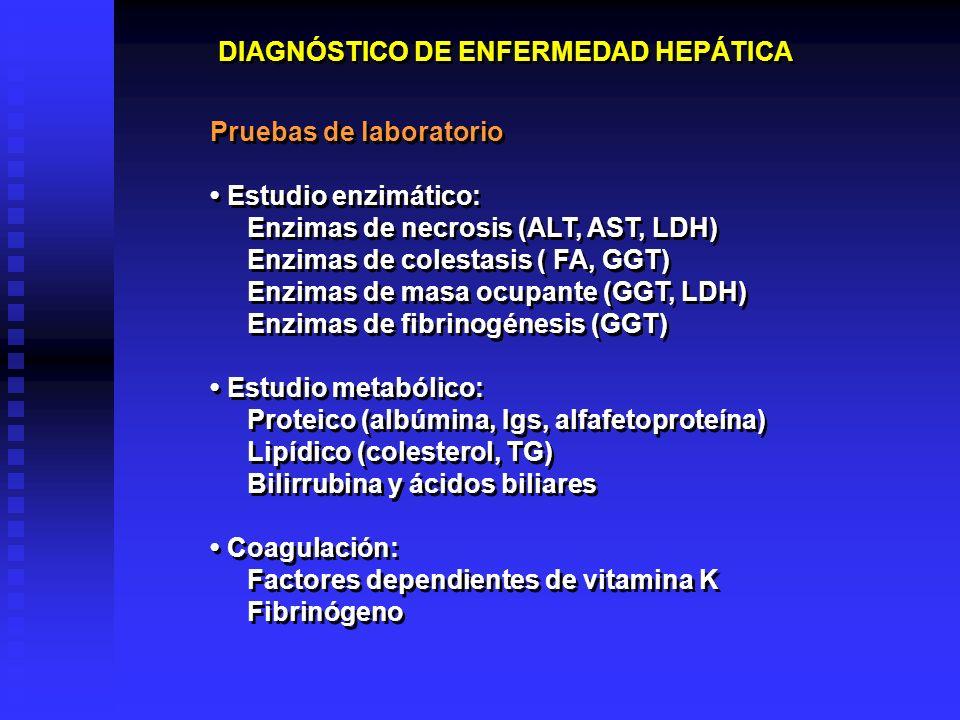 DIAGNÓSTICO DE ENFERMEDAD HEPÁTICA