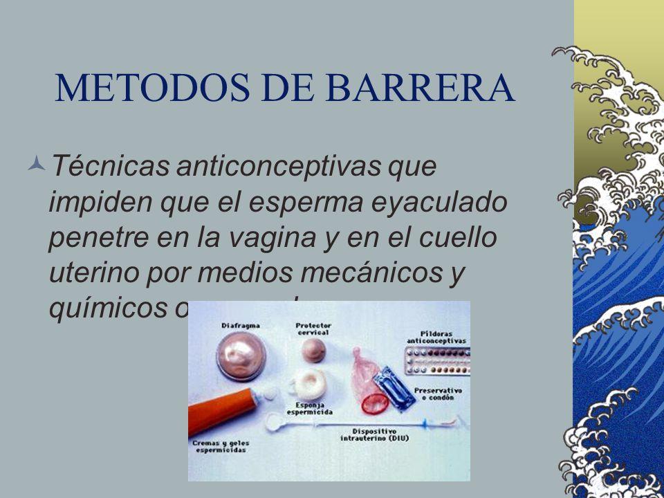 METODOS DE BARRERA