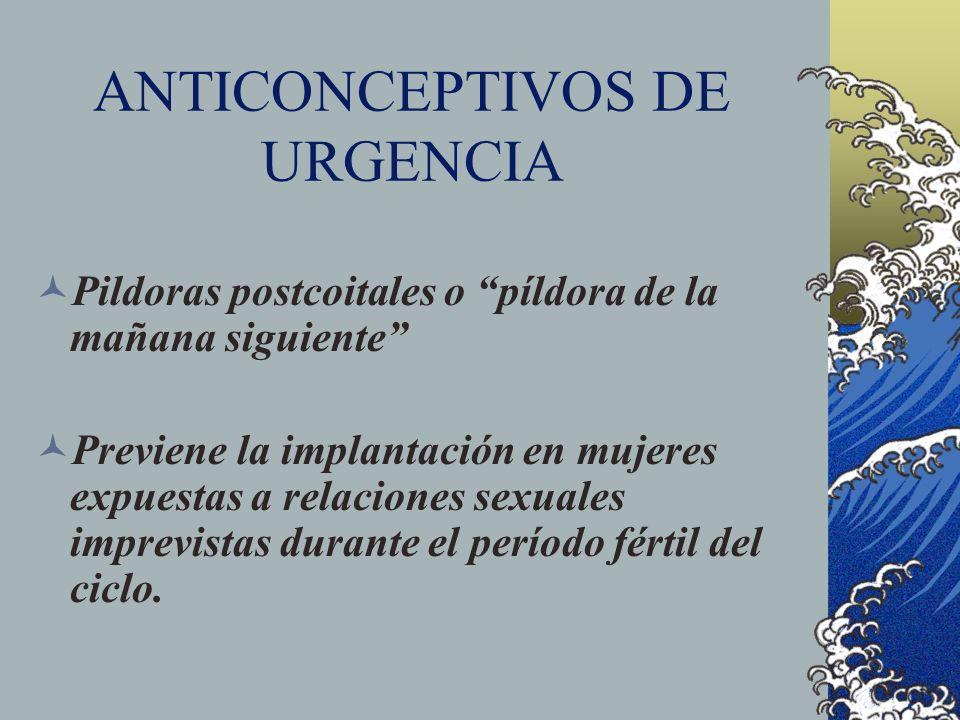 ANTICONCEPTIVOS DE URGENCIA