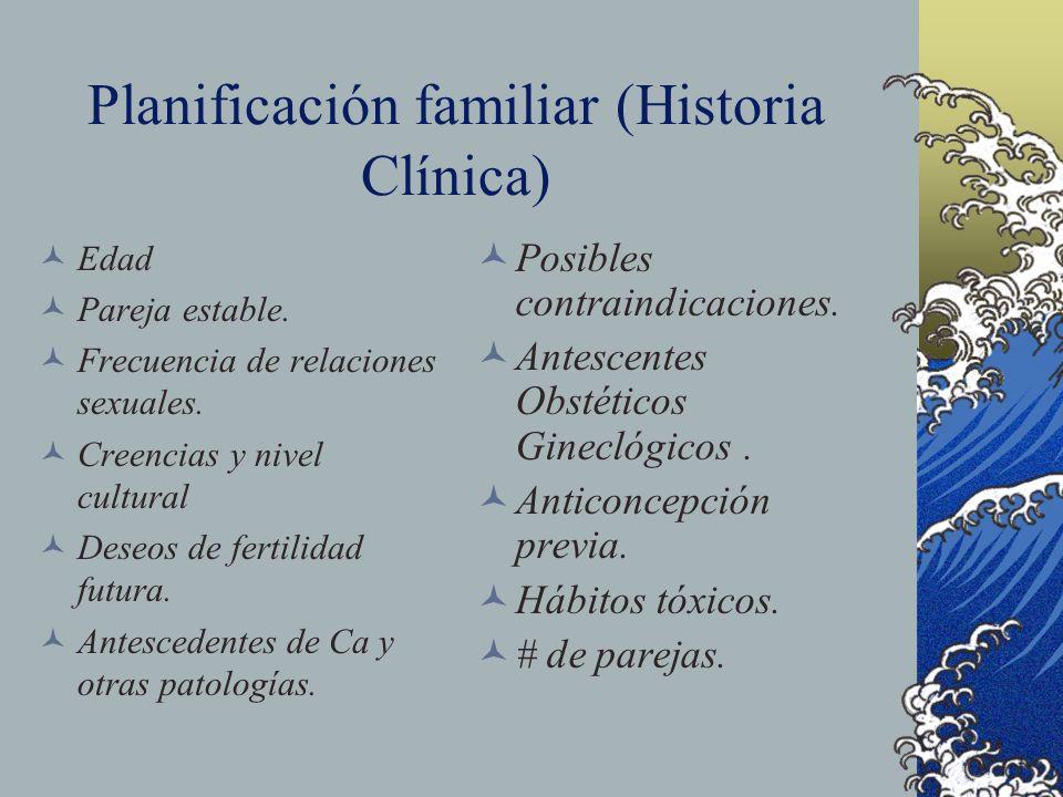 Planificación familiar (Historia Clínica)